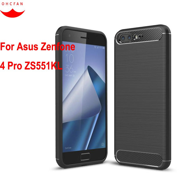 For Asus Zenfone 4 Pro ZS551KL Case Cover TPU Silicon Skin Slim Shockproof Anti-knock Phone Cases For Asus Zenfone 4 Pro Cover
