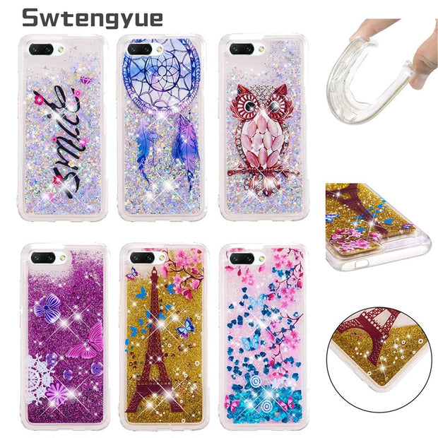 For Coque Huawei Honor 10 Lite Case Dynamic Liquid Glitter Silicone Soft TPU Case Cover SFor Fundas Huawei 10 Phone Cases