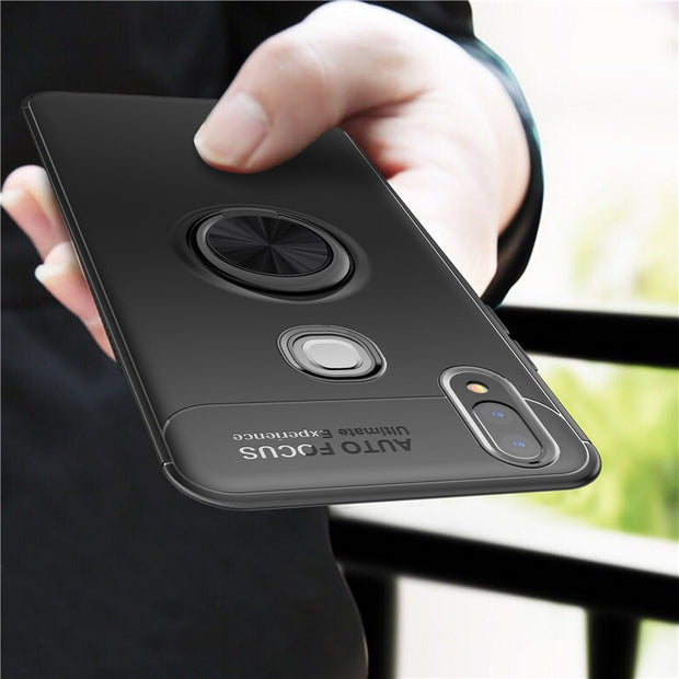 competitive price b0bce 5c2c1 For Coque Vivo V9 Cover Vivo Y85 Case Car Holder Magnetic Bracket Ring  Buckle Stand Phone Cases For Vivo Y85 Vivo V 9 6.3