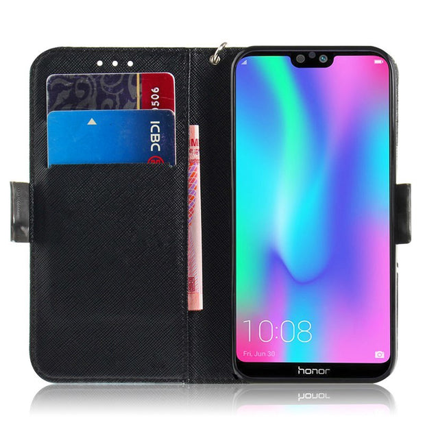 For Honor 9i Luxury Flip Wallet Case For Huawei Honor 9N 5.84 Inch 3D Bling Cute Style Leather Mobile Phone Cases Cover Coque