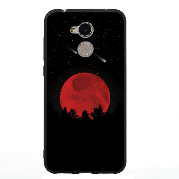 "For Huawei Honor 6A Phone Case Honor Play 6A Luxury Matte Silicone Soft Shell Honor 6A 5.0"" Black Fashion Cute Back Cover Cases"