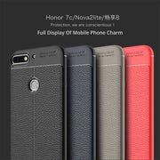 For Huawei Honor 7C / Nova2 Lite Case Cover Oft Silicone Cover Case Luxury Slim TPU Carbon Fiber Texture Full Back Anti-Knock