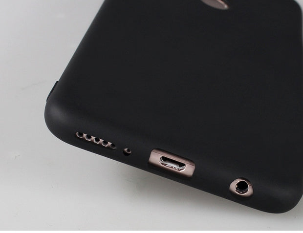 For Huawei Honor 7C Phone Case Enjoy 8 Luxury Matte Silicone Soft Shell Nova 2 Lite Y7 Prime 2018 Black Fashion Cute Back Cover