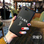 For Huawei Honor 9 Case Cover Cute Funny Original TPU Slim Case For Huawei Honor 9 Cases Black Silicone 100%