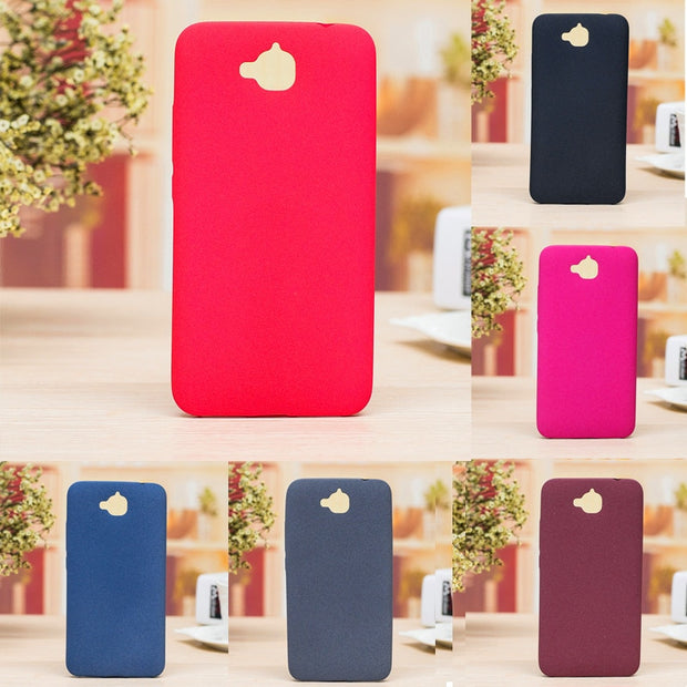 For Huawei Honor Y6 Pro Enjoy 5 TIT-AL00 4C Pro Case Soft Matte Feel  Silicone TPU Back Cover Case For Huawei Enjoy 5 Y6 Pro 5 0