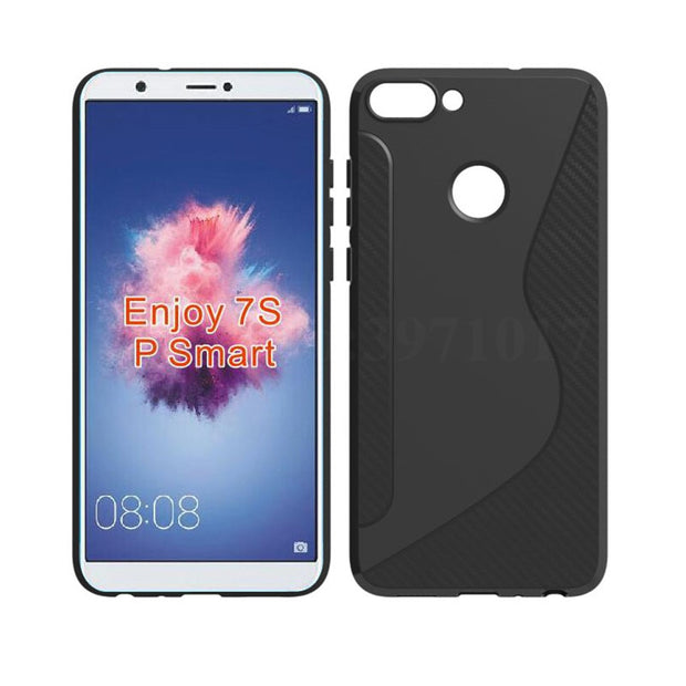 official photos 0ae68 46a00 For Huawei Huawei P Smart Case Anti-knock Silicone Full-body TPU Soft Back  Cover For Huawei P Smart 5.65