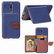 For Huawei Mate 10 Lite Case Luxury PU Leather Leaf Wallet Case For Huawei Nova 2i / Honor 9i Cards Holder Flip Phone Cover
