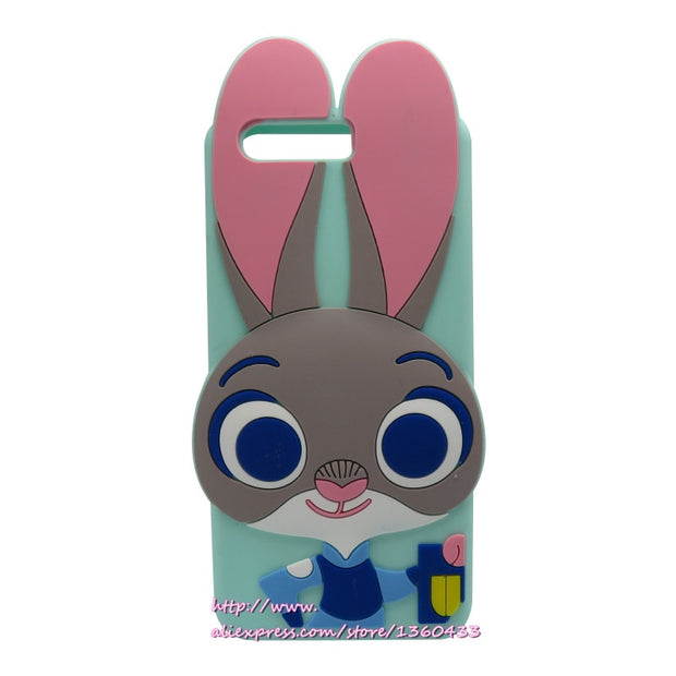 For Huawei P10 Case 3D Silicone Crazy Bunny Moblie Phone Cases For Huawei P10 P 10 Back Cover Cartoon Rabbit Case