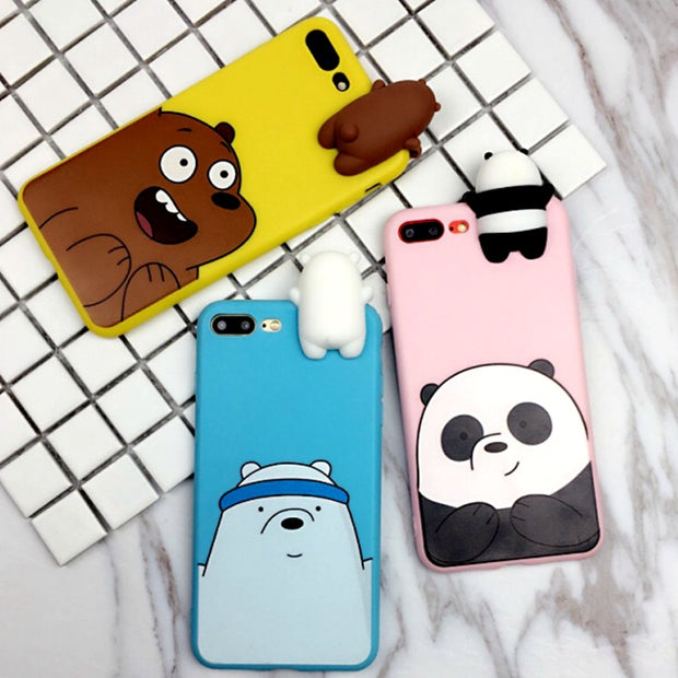 sneakers for cheap d98e1 29a04 For Huawei P20 Pro P20 Lite Case Cute Cartoon We Bare Bears Brothers Soft  TPU Silicon Phone Case For Huawei P20 Nova 3e Cover