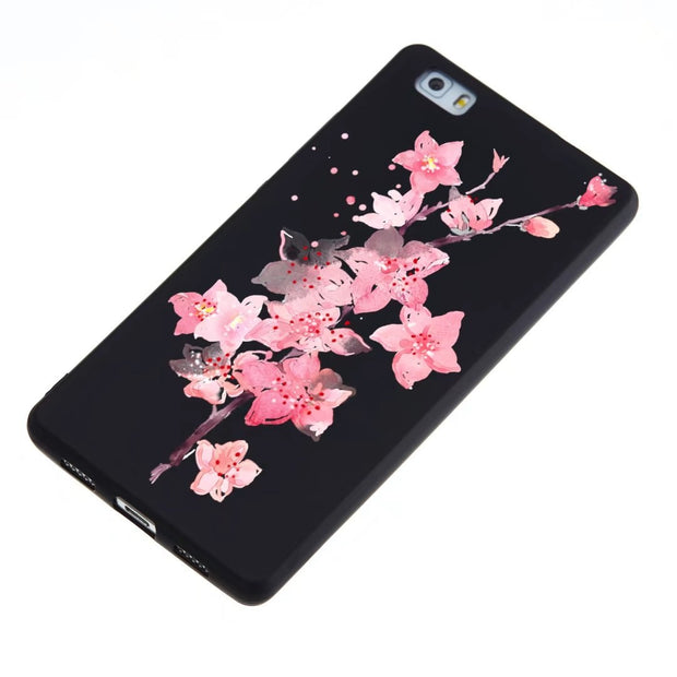 "For Huawei P8 Lite 5.0"" Phone Case JLNYU Luxury Matte Silicone Soft Shell For Huawei P8lite Black Fashion Cute Back Cover Cases"