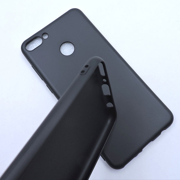 "For Huawei Y9 2018 Phone Case Enjoy 8Plus Luxury Matte Silicone Soft Shell Y9 2018 5.93"" Black Fashion Cute Back Cover Cases"