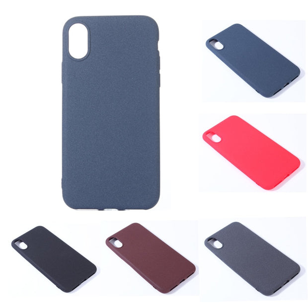 check out 6bb3e 48288 For Iphone X IphoneX Silicone Scrub Sandstone Case Colored Matte Silicon  TPU Skin Soft Back Cover For Apple IPhone X Fundas