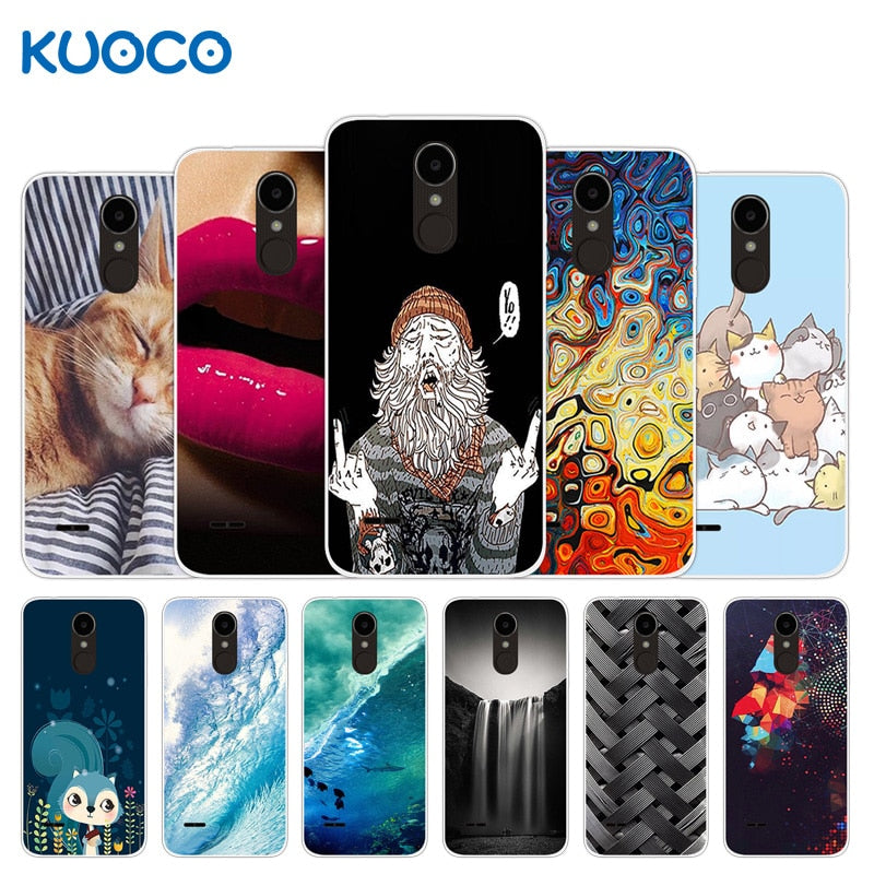 For LG K4 2017 X230 European Version X230YK X230F M160 Phone Cases For LG  Phoenix 3 LG Fortune Sea Waves Design Cover Silicon