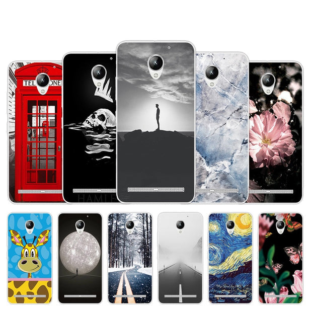 For Lenovo Vibe C2 K10A40 Case Call Box Design TPU Cover 5 0inch For Lenovo  C2 Phone Case Silicon Phone Bacl Protective Fundas
