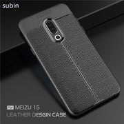 For Meizu 15 Case Cover Silicone Soft TPU For Meizu15 Plus Brushed Carbon Fiber For Meizu 15 Plus Back Phone Cases Luxury