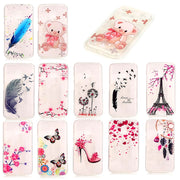 For Moto G 4 Play XT1607 XT1609 Case Transparent Animal Anime Silicone TPU Skin Soft Back Cover Case For Motorola Moto G4 Play