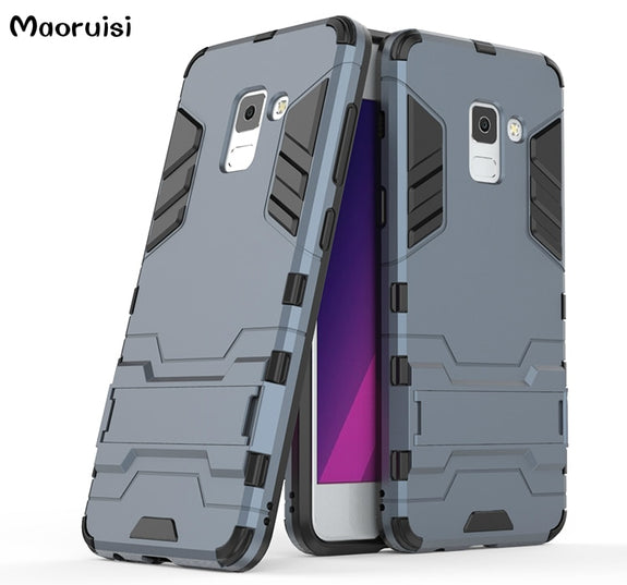 24dafa0ec1d For Samsung Galaxy A8 2018 Case Armor Silicone PC Back Cover For Samsu