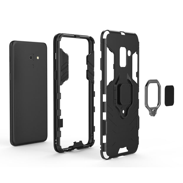 For Samsung Galaxy A8 Plus 2018 Case Magnetic Finger Ring Shockproof Stand Cover For Samsung Galaxy A8 2018 A530F A730F Case