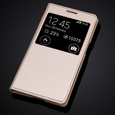 For Samsung Galaxy Core Prime G360 G360F G360H G361H G361F Flip PU Leather Cover Case Ultra Slim View Window Phone Bag