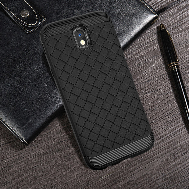 For Samsung Galaxy J3 Pro SM-J330 Case Fashion Weaving Pattern Protective Back Cover For SM-J330G/DS Mobile Phone Case