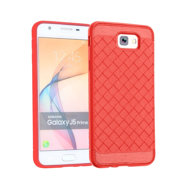 For Samsung Galaxy J5 Prime J7 Prime Case Fashion Weaving Pattern Protective Back Cover For SM-G610 SM-G570 Mobile Phone Case