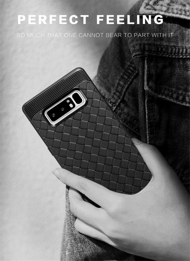 For Samsung Galaxy Note 8 Case Fashion Weaving Pattern Protective