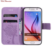 For Samsung Galaxy S6 Leather Phone Cover Bags For Coque Samsung S6 S 6 G920 Wallet Cases For Galaxy S6 SM-G920 SM-G920F Housing