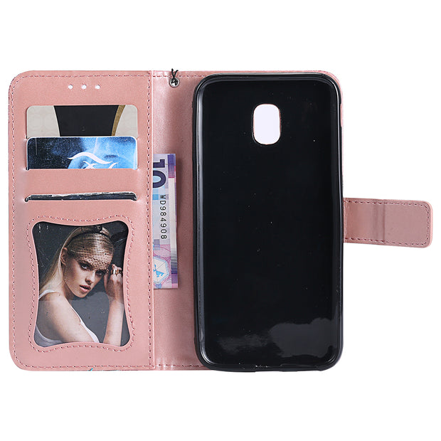 For Samsung J3 Prime Case Flip Cover For Samsung Galaxy J1 2016 J5 Prime ON 5 G570F J7 Prime ON 7 G610 J3 2017 Wallet Cases B132