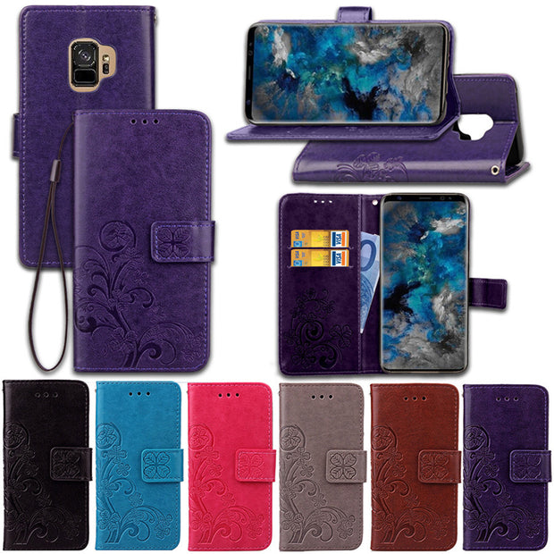 For Samsung S9 S8 Plus S7 S6 Edge Case Flip PU Leather Wallet Case For SAMSUNG Galaxy S9 S8 Plus S7 S6 Edge S5 S4 S3 Mini Cover