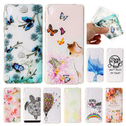 For Sony L 1 L1 G3312 G3311 Case Matte Relief Animal Anime Soft Silicone TPU Back Cover Phone Case For Samsung Galaxy L1 Dual