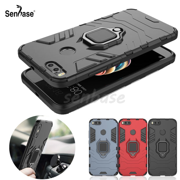 various colors 62ea6 0616c For Xiaomi Mi A1 Case 5.5 Inch Magnetic Finger Ring Armor Shockproof Stand  Cover For Xiaomi Mi 5X Mi5X MiA1 Case