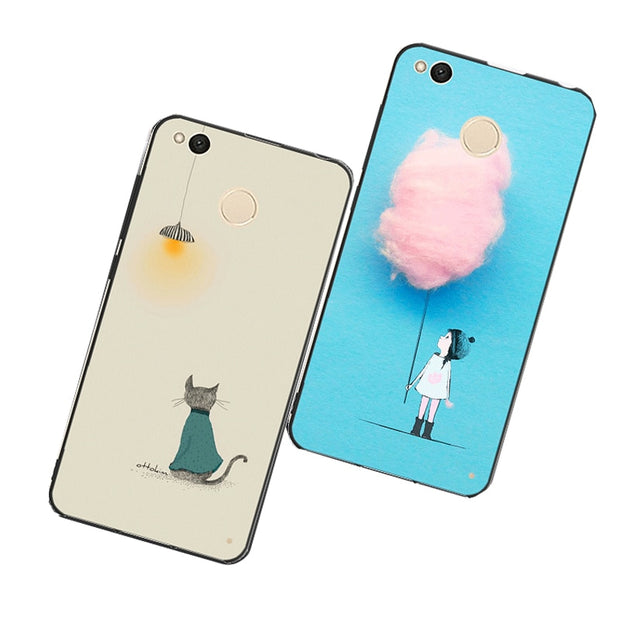 For Xiaomi Redmi 5 Plus 4x Case Flamingo,Pink Case For Xiaomi Mi Mix 2s Cover Cases