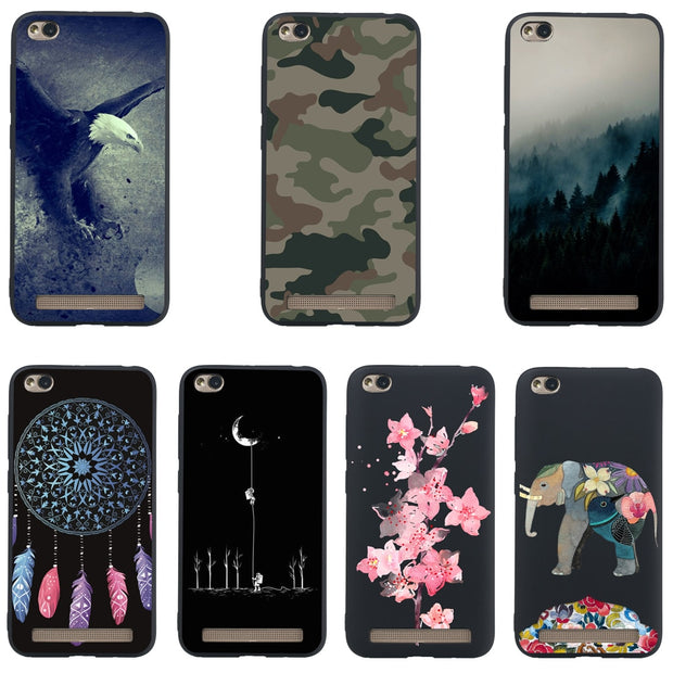 "For Xiaomi Redmi 5A Phone Case JLNYU Luxury Matte Silicone Soft Shell Redmi 5a Redmi 5A 5.0"" Black Fashion Cute Back Cover Cases"