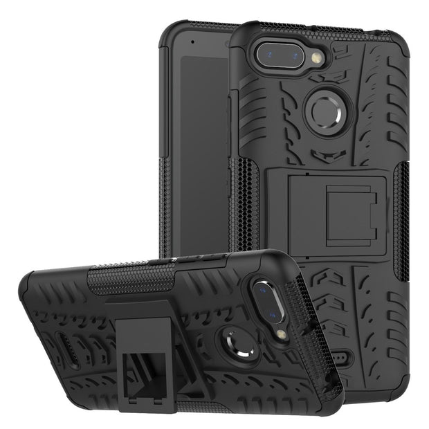 "For Xiaomi Redmi 6A Case Xiaomi Redmi 6 Hybrid TPU + PC Armor Hard Silicone Cover For Xiaomi Redmi 6A 5.45"" Phone Bag Case"