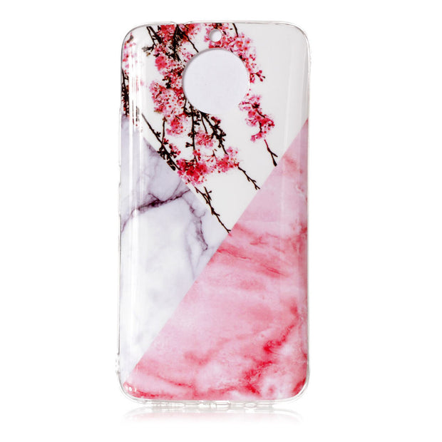 For Fundas Motorola Moto G6 Cases Marble Floral Back Phone Covers For Coque Motorola Moto G6 Case 5.7 Inch Capinha Etui