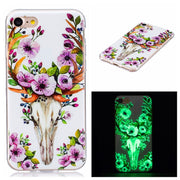 For IPhone 7 Iphone7 Case Luminous Animal Flower Anime Silicon TPU Skin Soft Back Cover Phone Case For Iphone 7 Soft Phone Cover