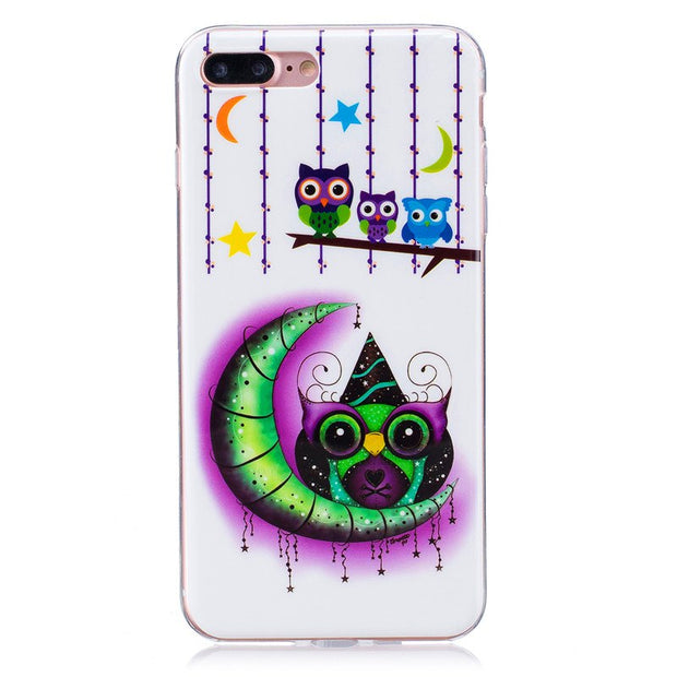 For IPhone 7Plus 7G Plus Case Luminous Animal Flower Anime Silicone TPU Skin Soft Back Cover Phone Case For Iphone 7 Plus 5.5""