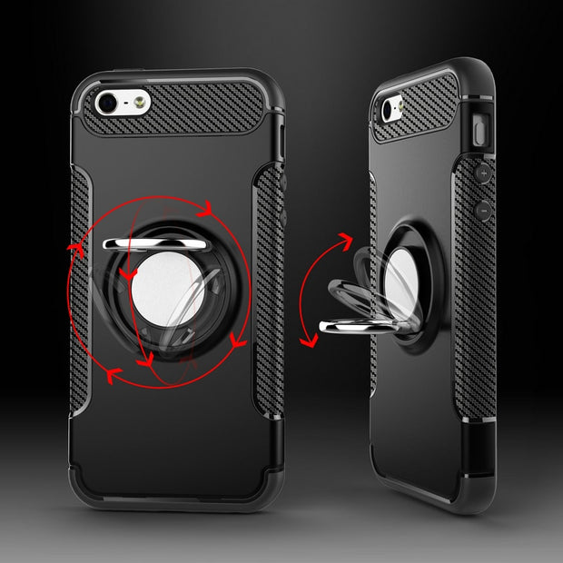 For iPhone SE Case Coque iPhone 5s Cover Luxury Car Metal Ring Holder Phone Back cover 17154a0e 8973 442c b548 8dcba492669d 620x
