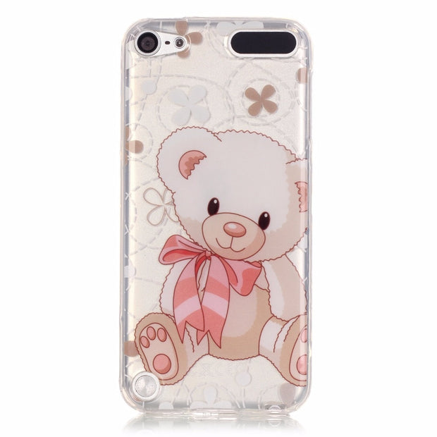 For IPod Touch 5 Cover Cute 3D Cartoon Soft Silicone Back Cover Case For IPod Touch 6 Touch 5