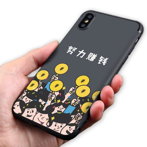 For Iphone X Case Cover Cute Funny Original TPU Case For Apple X Phone Cases Silicone 100%