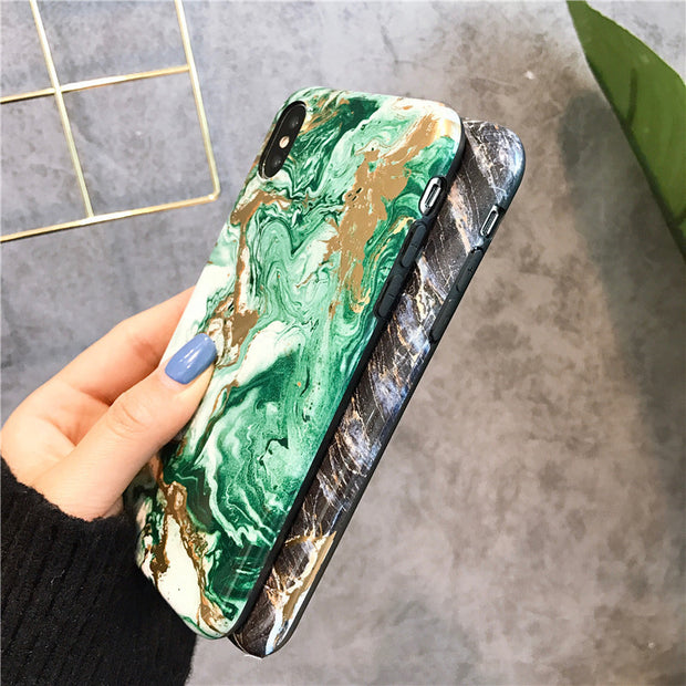 For Iphone X Case Ultra Thin Marble Case For Iphone 8 8Plus Soft TPU Case For Iphone 6 6plus 7 7plus Back Cover