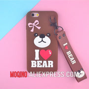 For Oppo R9 R9s A77 A73 A79 Y79 A83 A3 A5 F7 A59 For Vivo A57 A39 A37 Y51 Y83 Y75 Y71 Y67 V9 Brown Bear Soft Silicone Phone Case
