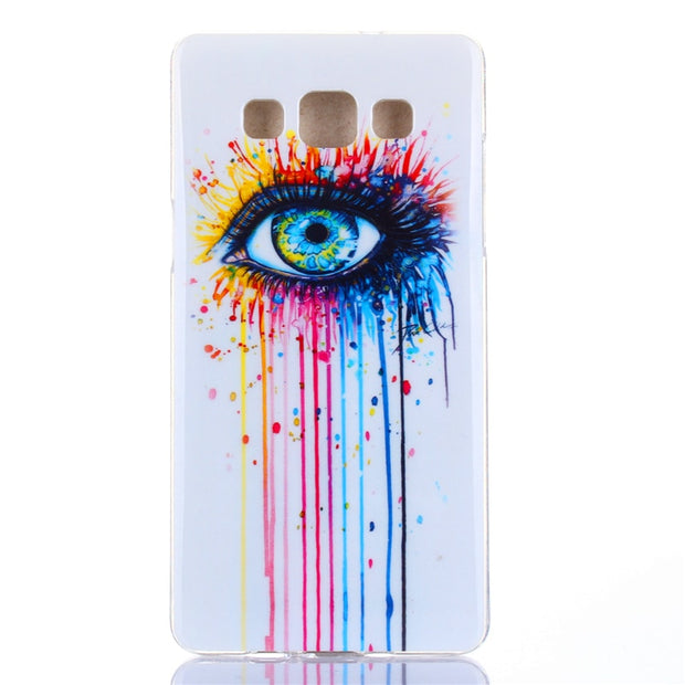 For Samsung A3 2015 Case Animal Flower Anime Silicone TPU Skin Soft Back Cover For Samsung Galaxy A3 2015 A300 SM-A300F A3000