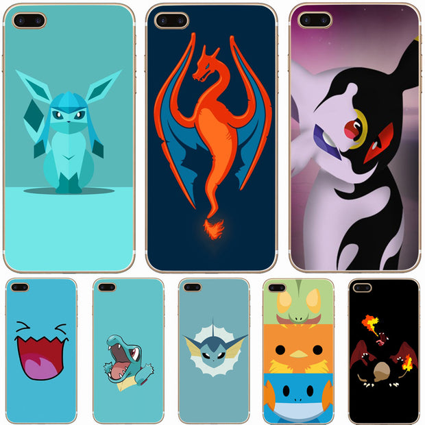 official photos 95fac 7cba5 G456 Pretty Umbreon Charmander Transparent Hard Thin Case Cover For Apple  IPhone XR XS Max 4 4S 5 5S SE 5C 6 6S 7 8 X Plus