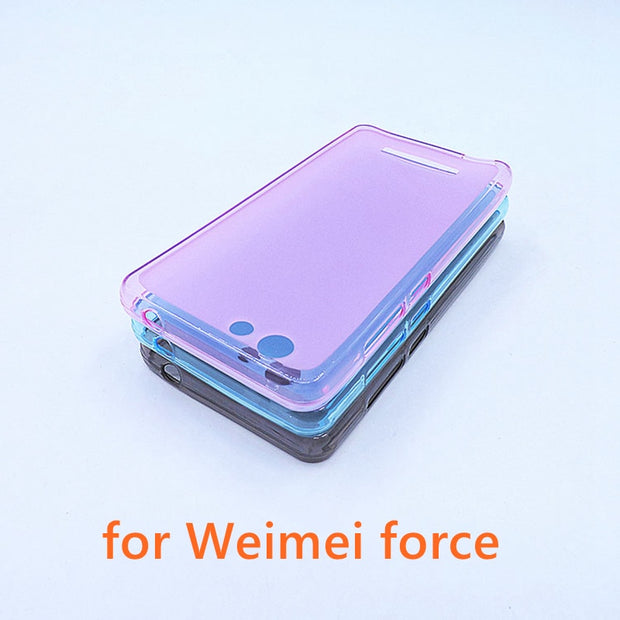 GR Olamexy TPU Pudding Cover Caase FoR Weimei Force 5.0 Inch Mobile Cell Phone Shell Case Smartphone Bag Covers