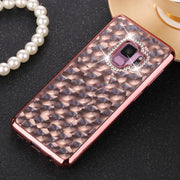 GerTong 4D Relief Glitter Diamond Phone Case For Samsung Galaxy S7 Edge S8 S9 Plus J3 J5 J7 A3 A5 A7 TPU Soft Plating Back Cover
