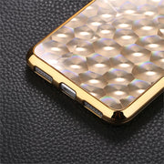 GerTong Bling Glitter Diamond Plating Case For Huawei 10 P8 P9 Lite 2016 TPU Phone Cover For Honor 8 Lite 4D Relief Coque Shell