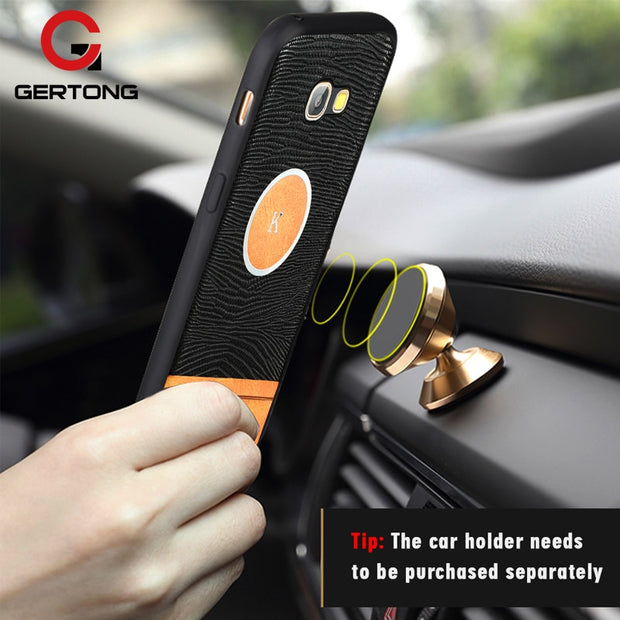 GerTong Phone Case Cover For Samsung Galaxy J3 J5 J7 2017 EU A3 A5 A7 S7 Edge S8 S9 Plus Note 8 A8 Plus 2018 Magnetic Car Holder