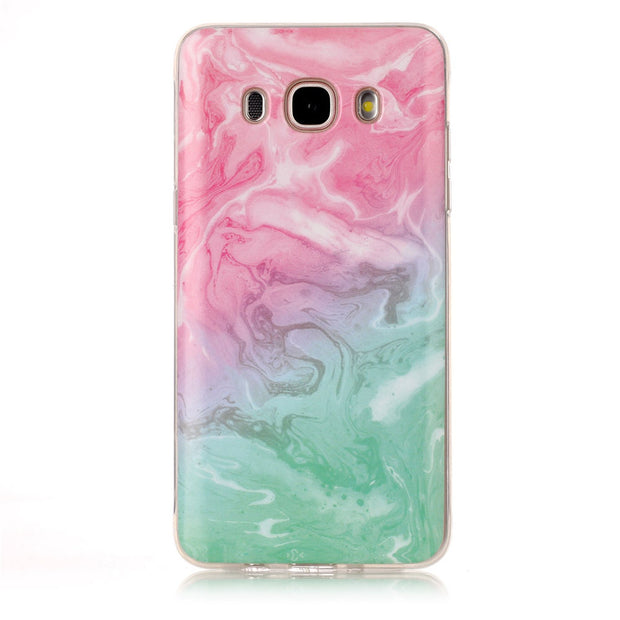 Glossy Abstract Soft Case For Samsung Galaxy J7 2016 Red Marble Silicone Cover For Samsung J7 J710 J710F J710H Case Capinha Etui