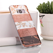 Gold Plating Marble Case For Samsung Galaxy S8 Plus Case Stone Splice Silicone Soft TPU Cover Phone Cases For Samsung S8 Coque
